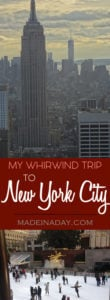 My New York Holiday Trip 1