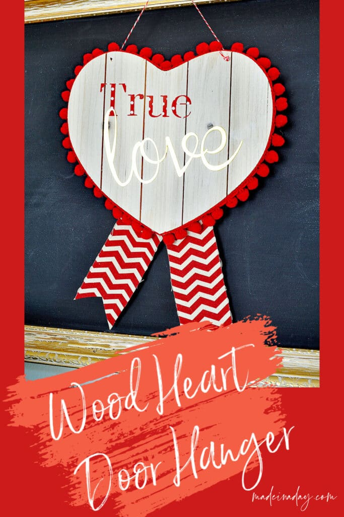 Wood Heart wreath, wood heart door hanger