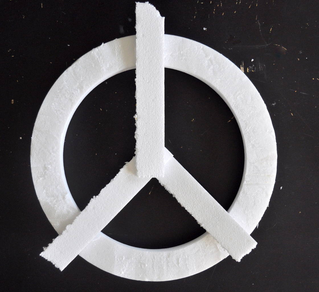 add foam for peace sign