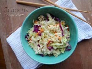 Crunchy Napa Cabbage Slaw madeinaday.com