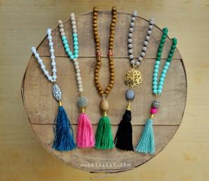 DIY Tassel Necklaces madeinaday.com