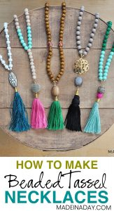 How to Make DIY Beaded Tassel Necklaces 1