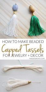 DIY Capped Tassels 1