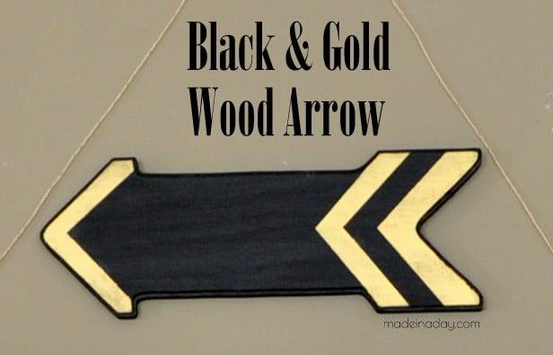 Black & Gold Wood Arrow Wall Art