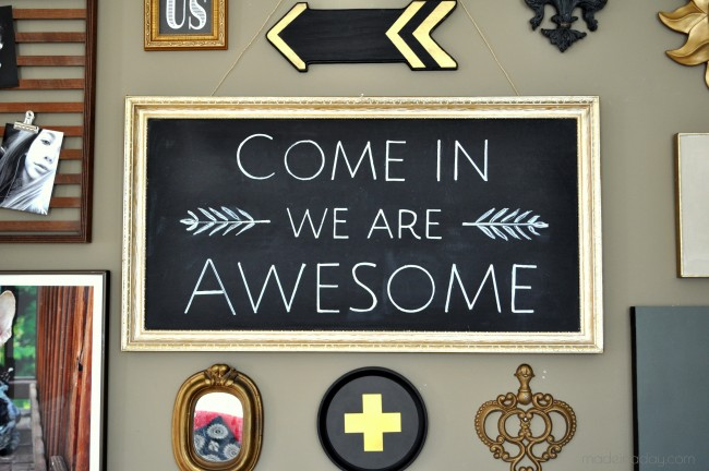 Come in We are Awesome Chalk Art Free Printable