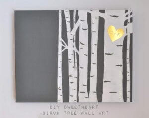 DIY Birch Tree Wall Art Madeinaday.com