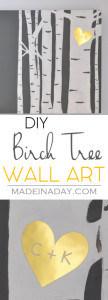 Birch Tree Wall Art 1