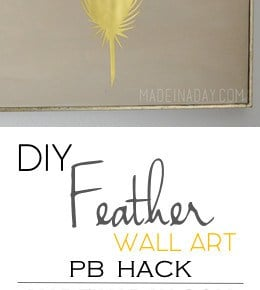 Gold Feather Wall Art PB Hack 31