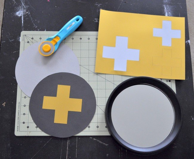 DIY Gold & Black Swiss Cross