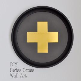 DIY Gold & Black Swiss Cross Free Printable