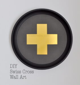 DIY Gold & Black Swiss Cross Free Printable