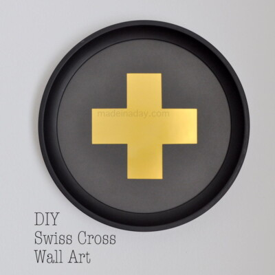 DIY Swiss Cross Wall Art