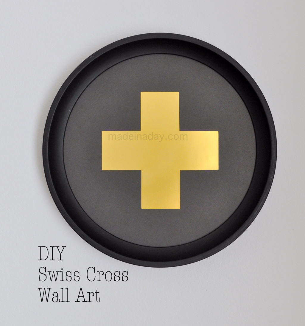 DIY Swiss Cross Wall Art • Made in a Day