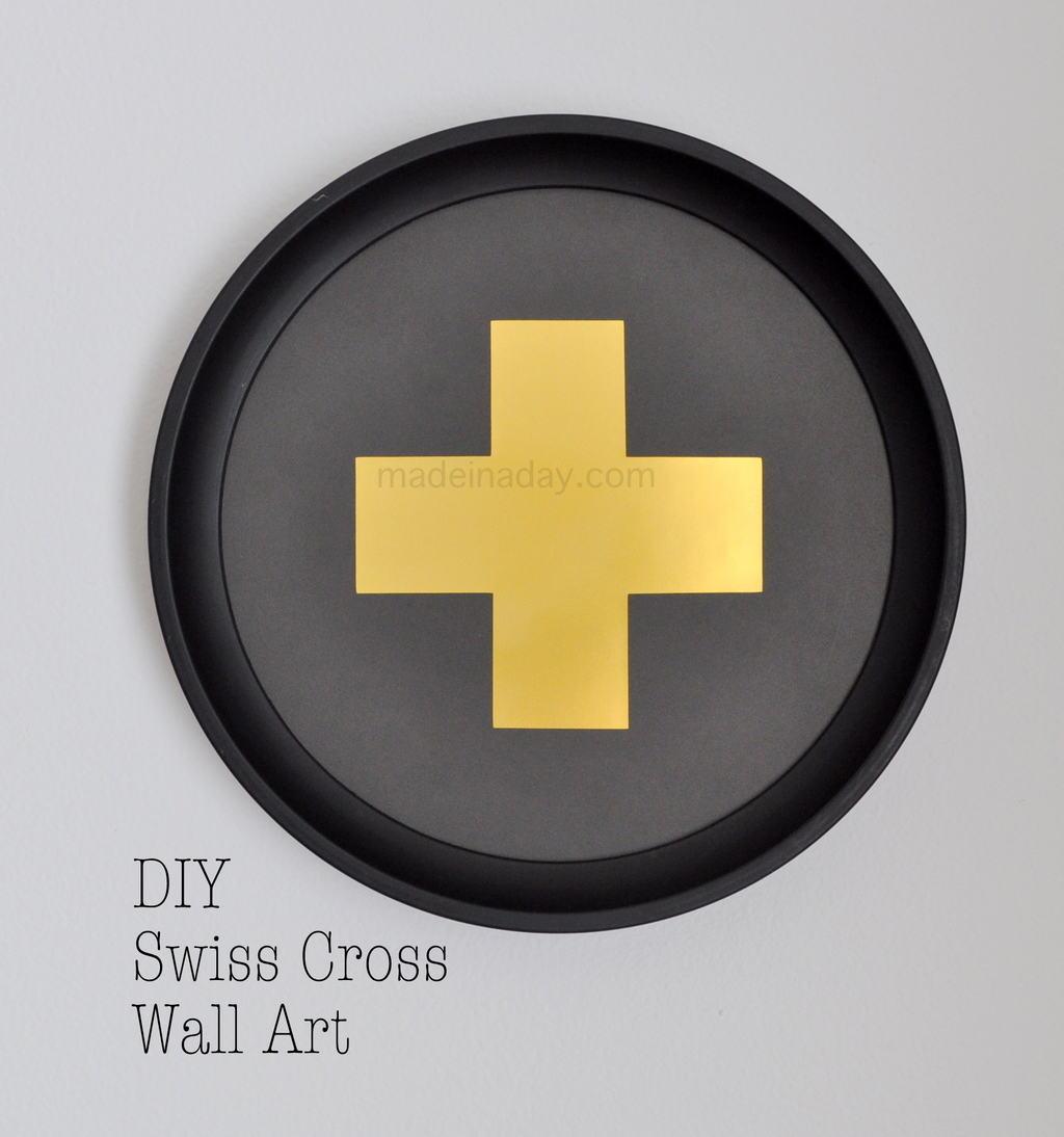 DIY Swiss Cross Wall Art | Made in a Day