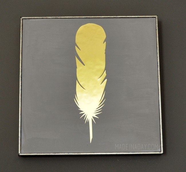 DIY Gold Feather pic PB Inspired Silhouette