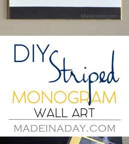Black White Gold Monogram Wall Art 31