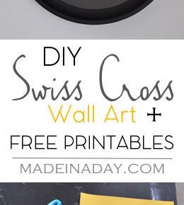 DIY Swiss Cross Wall Art 1