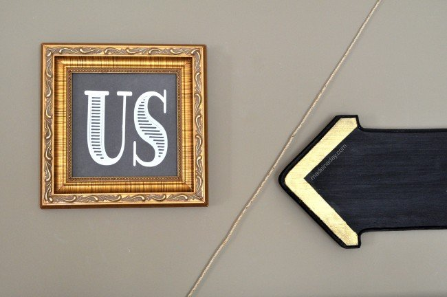 "DIY ""Us"" Sign Wall Art madeinaday.com"