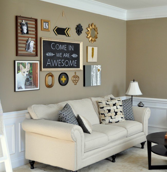 Eclectic black gold Gallery Wall