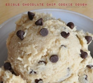 Edible Cookie Dough Recipe madeinaday.com