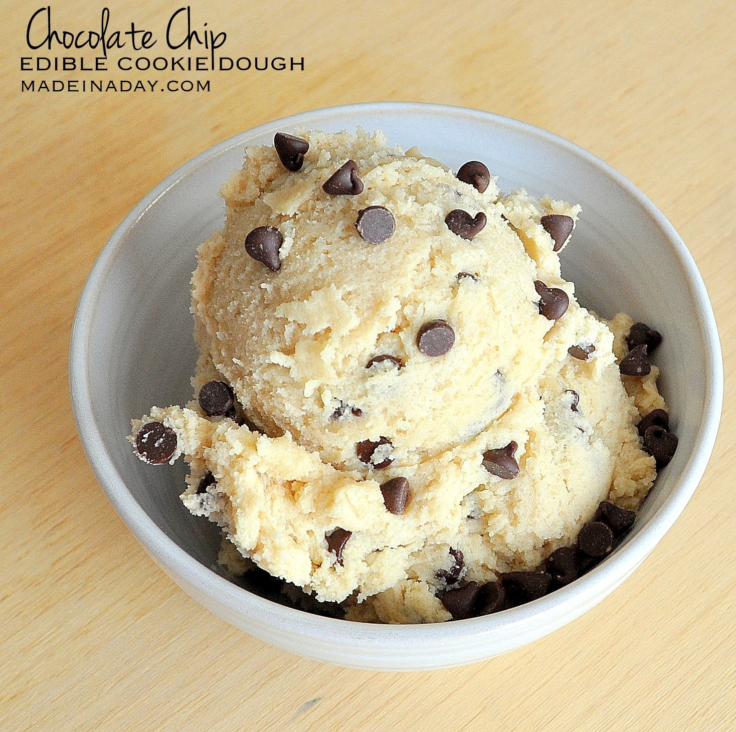 Chocolate Chip Edible Cookie Dough Recipe