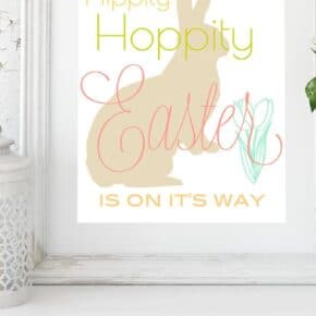 Hippity Hoppity Easter Printable Wall Art 1
