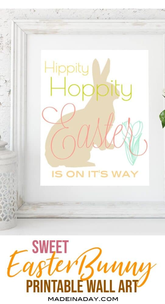Hippity Hoppity Easter Printable Wall Art 2