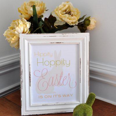 Hippity Hoppity Easter Printable