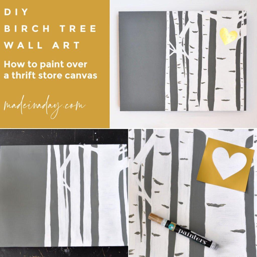 Easy Birch Tree Painting DIY