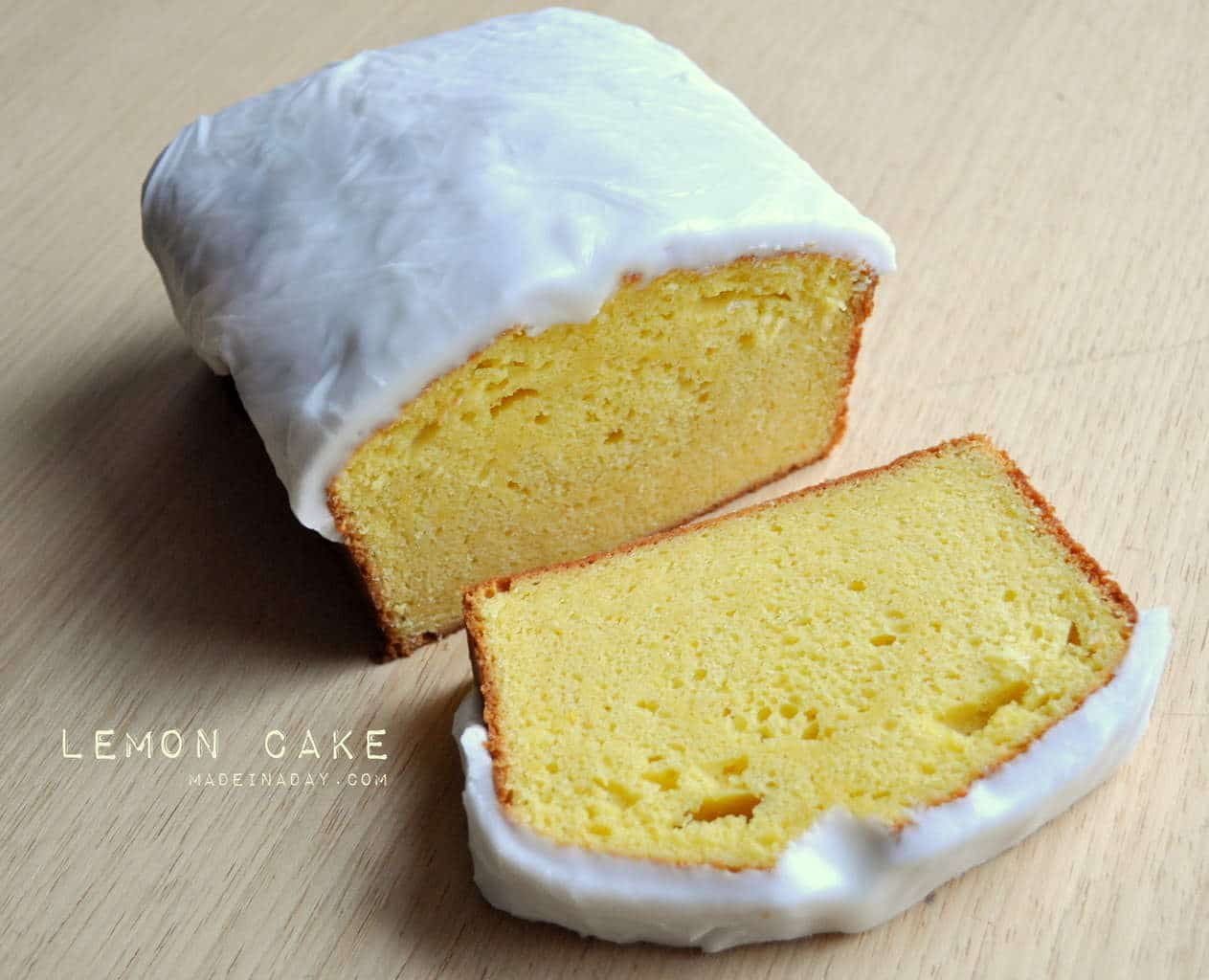 Lemon Cake Loaf Recipe madeinaday.com