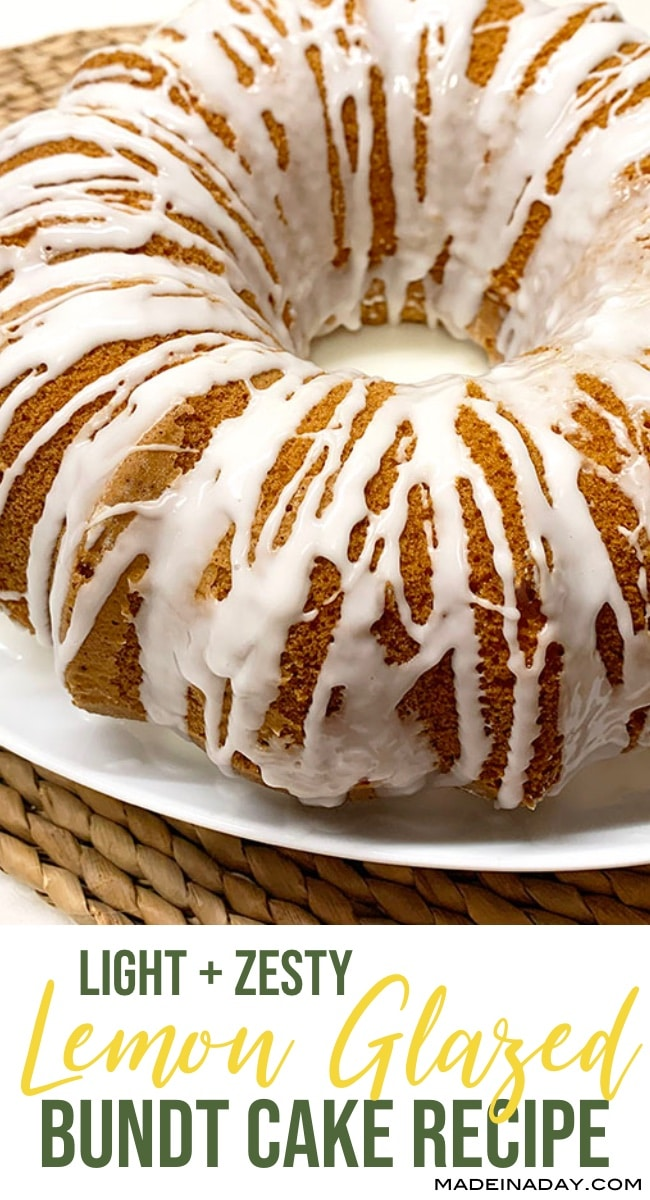 lemon bundt cake, cake mix bundt cake, lemon zest bundt cake