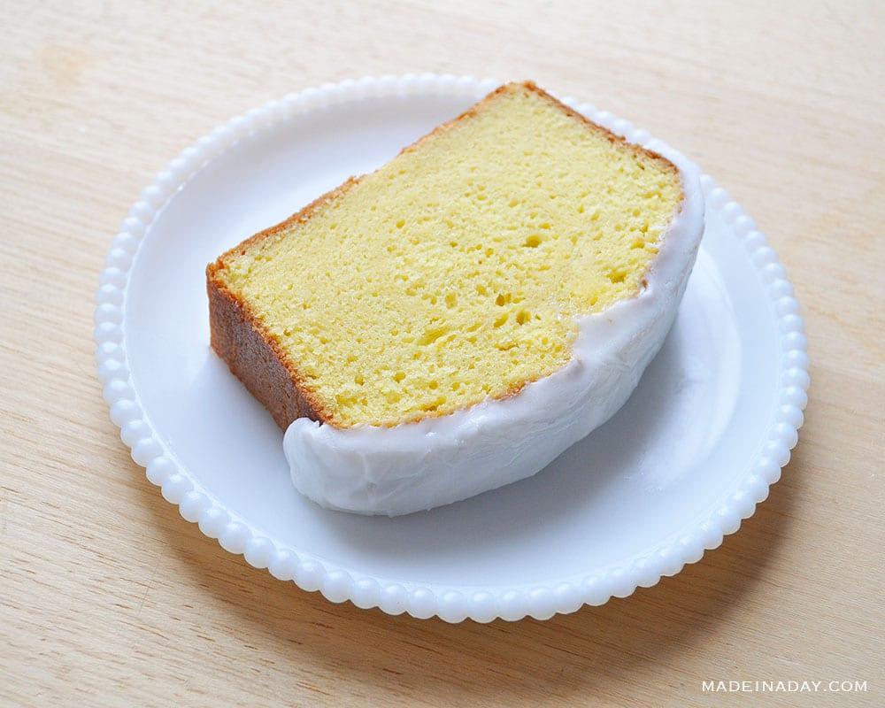 lemon loaf cake, starbucks copycat lemon cake, how to make a cake in a loaf pan, glazed lemon loaf