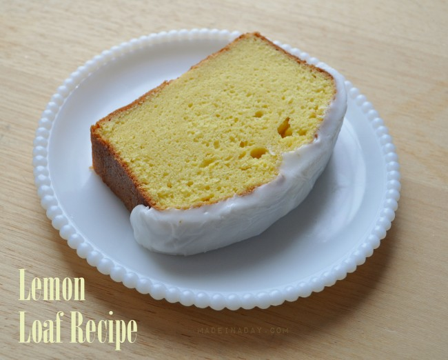 Lemon Loaf Cake Recipe madeinaday.com