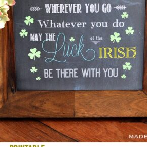 Irish Blessing Chalk Art FREE Printables 1
