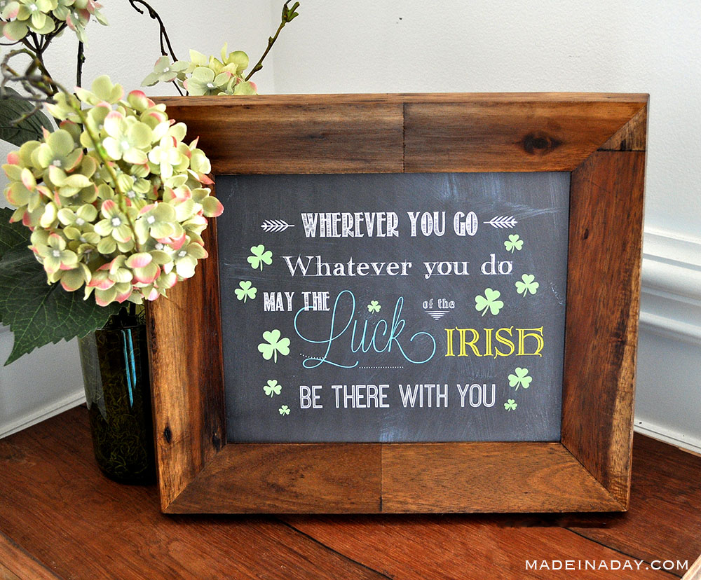 Irish blessing wall art, luck of the Irish blessing, Printable Irish blessing,