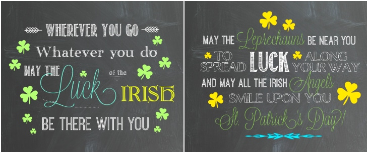 Irish Blessing Quote printables for st patricks Day