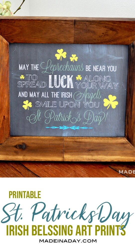 St Patricks Day Irish Blessing, Leprechaun Irish Blessing