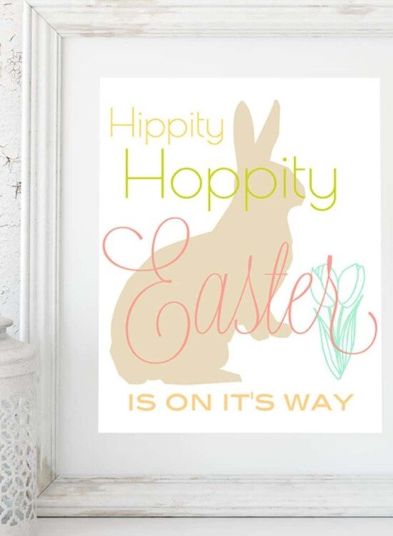 Hippity Hoppity Easter Printable Wall Art 37