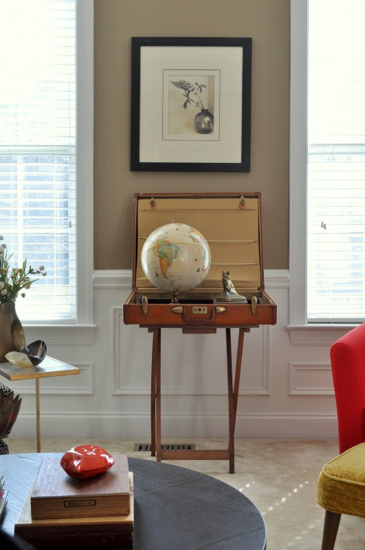 Suitcase Globe Table madeinaday.com