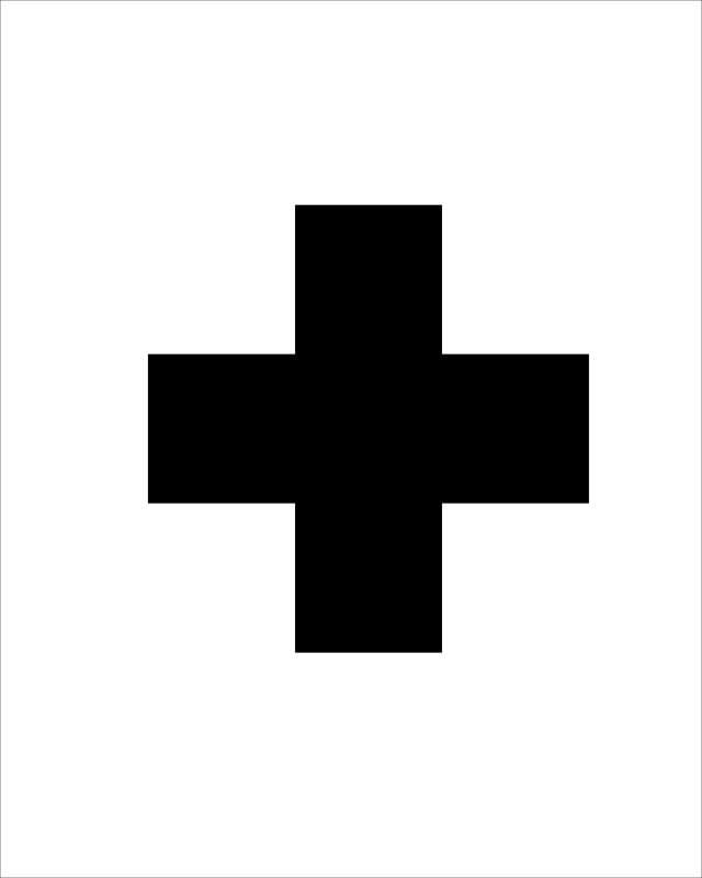 White W: Black Swiss Cross madeinaday.com