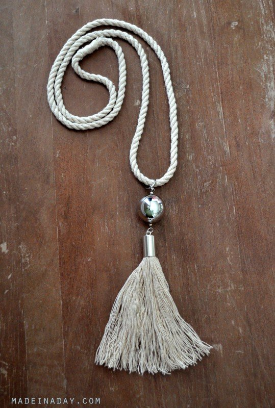 DIY Rope Capped Tassel