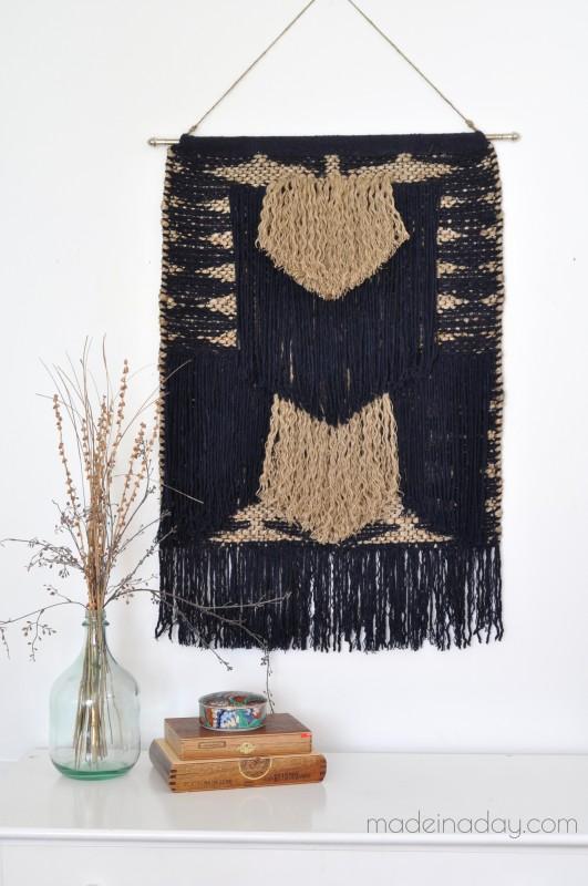 DIY Tapestry No Weave madeinaday.com
