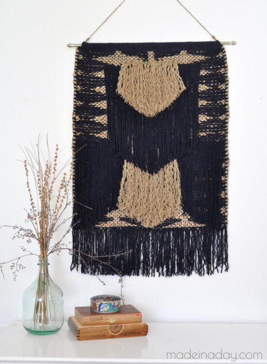 How to Make a DIY Large Tapestry No Weave 36