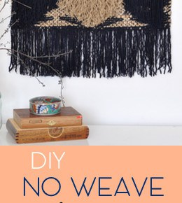 How to Make a DIY Large Tapestry No Weave 1