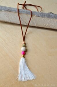 DIY suede leather tassel necklace