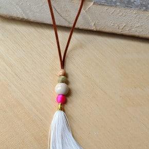 DIY suede leather tassel necklace