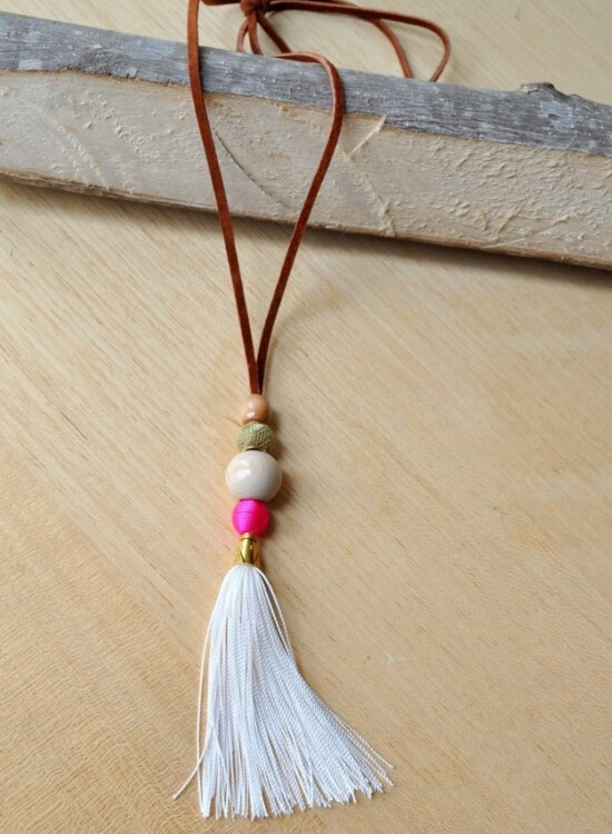 Suede Tassel Necklace 33