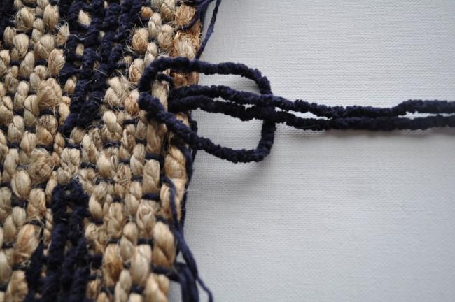 Larks Head Knot for tapestry