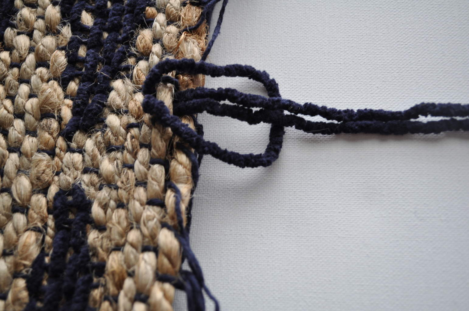 Larks Head Knot for tapestry