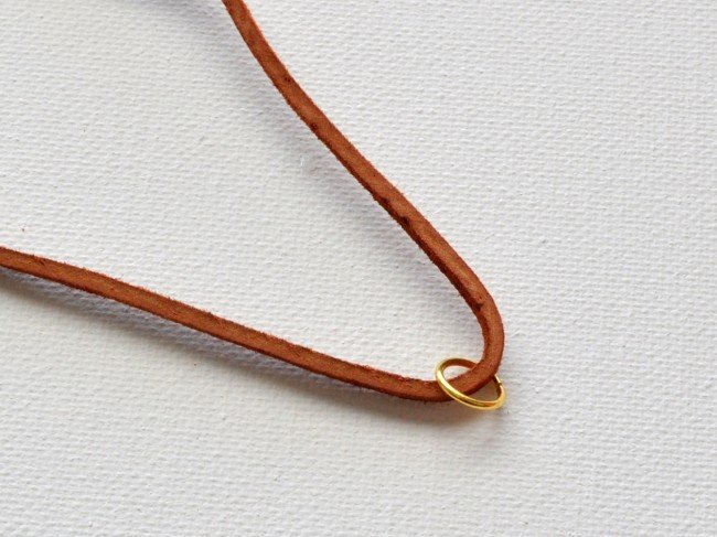 Make a suede necklace